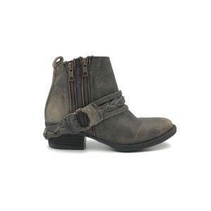 Very Volatile Yokel Distressed Harness Boot Size 6